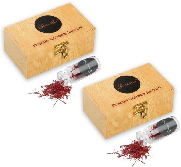 Spice Bar Kashmiri Saffron( Kesar) Threads AAA Grade Certified- 2gm