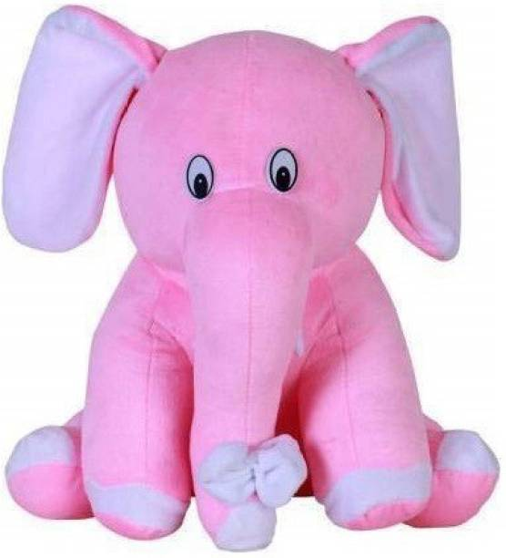 fluffies 30cm Skin Friendly Cute Elephant Stuffed Soft Toy for Kids Lovable Huggable Perfect Present for Birthday, Babies & Children  - 30 cm
