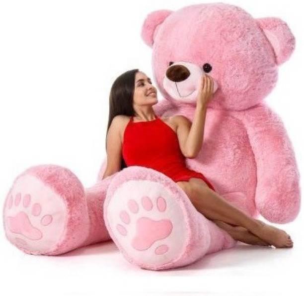 Tedstree 4 feet pink teddy bear / high quality / neck brow / cute and soft teddy bear  - 122 cm