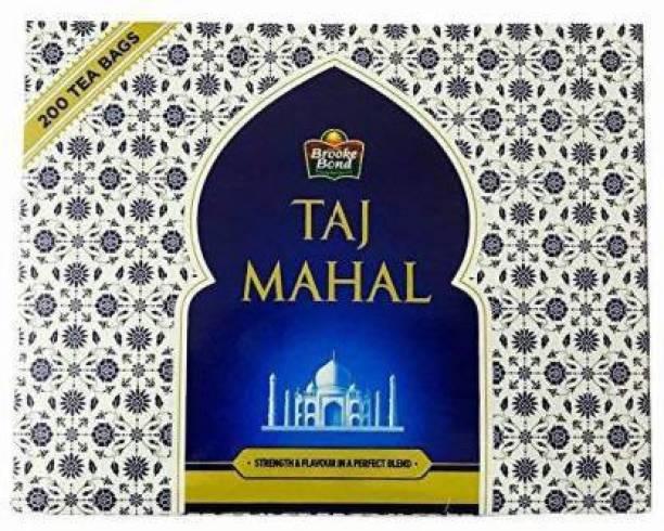 Taj Mahal Regular Unflavoured Tea Bags Box -200 Bags (Pack of 3) Black Tea Bags Box