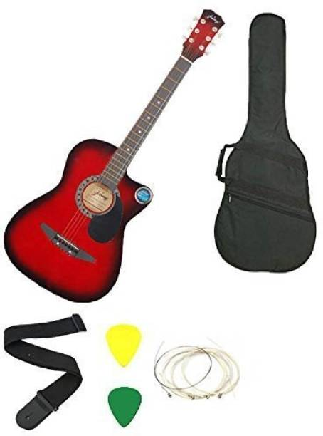 JIXING Acoustic Guitar Linden Wood Maple Right Hand Orientation