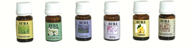 AuraDecor Rose, LemonGrass, Lavender, Jasmine, Sandalwood, Lemon Aroma Oil