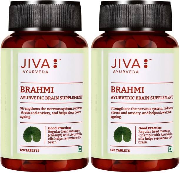 Jiva Brahmi - 120 Tablets | Gain Holistic Health Naturally | Pack of 2 (120 Tablets)