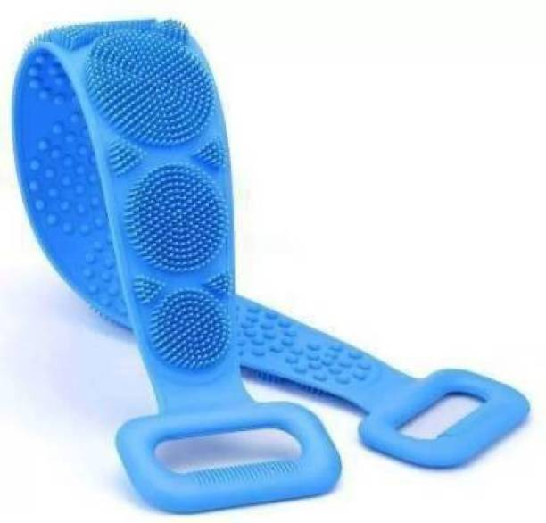 Manar Bath Body Cleaning Belt Silicone Back Scrubber Belt Extra Long-Double-Sided Bath Scrub Strap Gently Massages and Exfoliates Skin