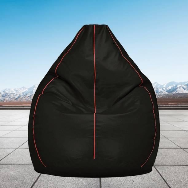 Gunj XXL Artificial Leather Bean Bag Teardrop Bean Bag  With Bean Filling