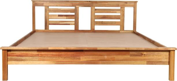 TREVI Woody Solid Wood Queen Bed