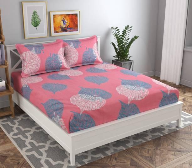 VAS COLLECTIONS 180 TC Cotton Double Floral Bedsheet