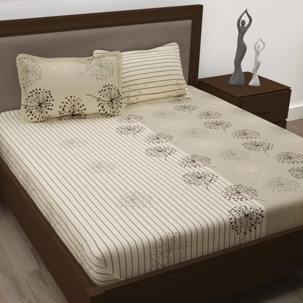 Story@home 186 TC Cotton Double Paisley Bedsheet
