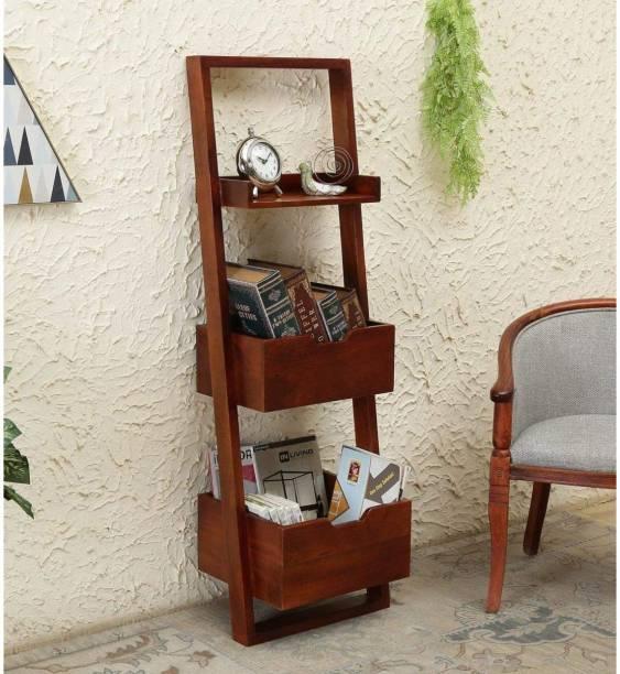 choyal Solid Wood Open Book Shelf
