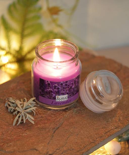 AuraDecor Highly Fragrance Lavender Jar Candle
