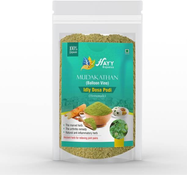 HAYYFOODS Mudakathan Idli Dosa Podi - Fresh and Pure - Relief from Rheumatoid Arthritis Chutney Powder