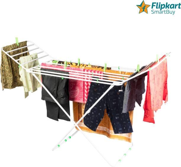 Flipkart SmartBuy Steel Floor Cloth Dryer Stand Pipe Cloth Stand White Big FSB-003