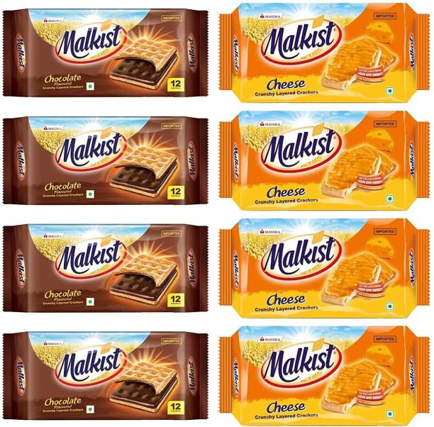 Mayora MALKIST CAPPECCINO,CHEESE,CHOCOLATE & SUGAR *8 PCS Cream Sandwich