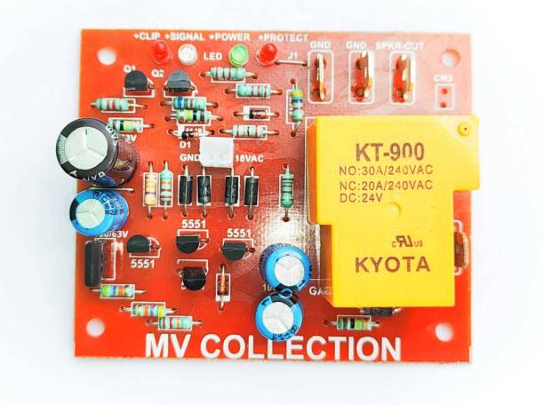 M V COLLECTION SPEAKER PROTECTION WITH CLIP , SIGNAL , POWER, PROTECT LED INDICATORS DC VOLTAGE , SHORT CIRCUIT , OVER HEAT PROTECTION FOR PROFFESTIONAL AMPLIFIERS BEST IN QUALITY Electronic Components Electronic Hobby Kit
