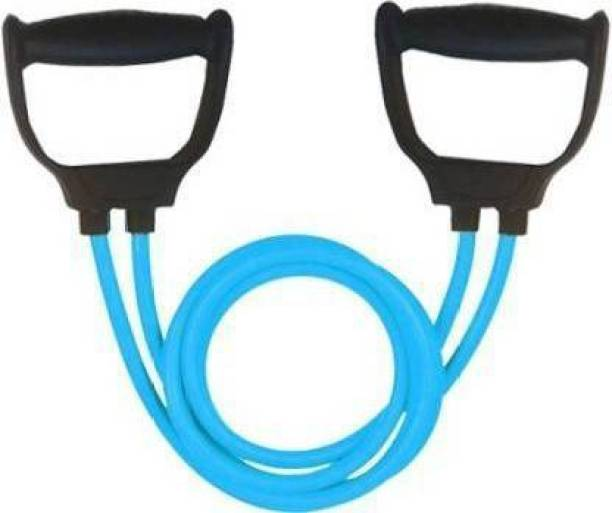 EMMKITZ Double Resistance Band | 6 Body Parts of Muscles to (BLUE) Resistance Band
