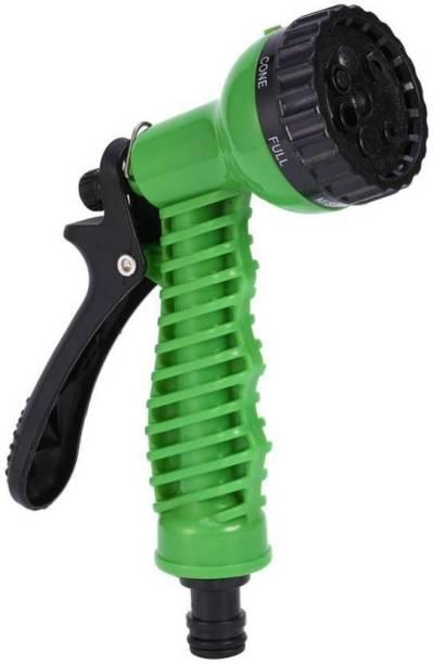 Xeekart High Pressure Garden 7 in 1 Pattern Water Spray Gun Set for Irrigation/Floor Cleaning/Pet wash/Plant Watering/Car-Bike wash- Green - Universal Fitting 0 L Hand Held Sprayer