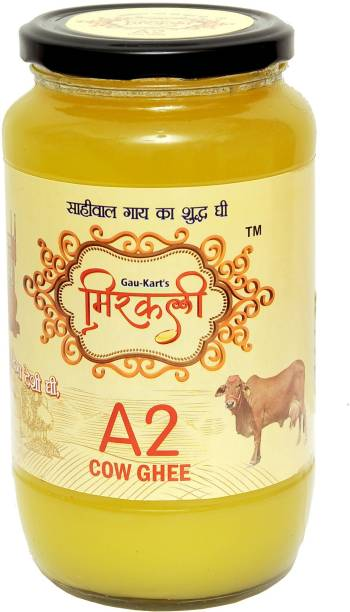 mirkali A2 Cow Ghee 1 L Glass Bottle