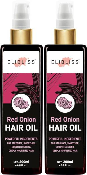 ELIBLISS Red Onion Hair Oil Pack Of 2 for Hair Regrowth & Hair Fall Control Hair Oil