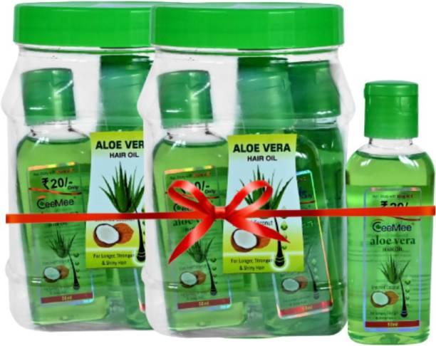 Ceemee Aloe Vera Hair Oil Jar Enriched with Coconut for Hair Growth Hair Oil