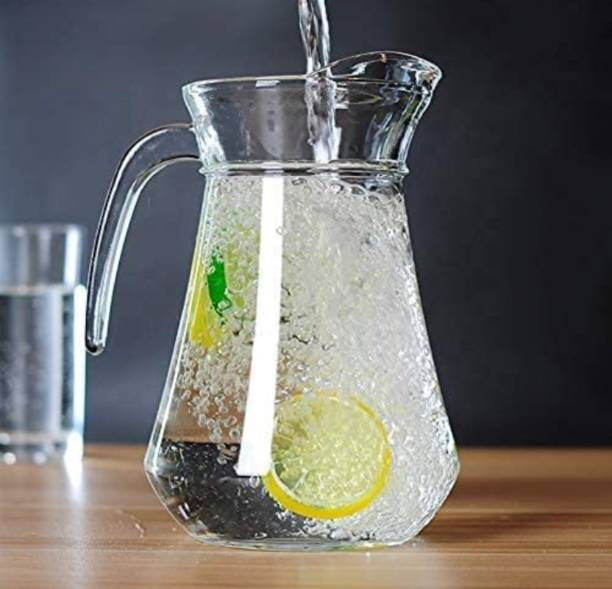 Joy2u 1.3 L Water Green Apple Duck Pot 1.3L Glass Pitcher with Plastic lid,Drinking Beverage Jug,Glass Water jug for Home use Jug