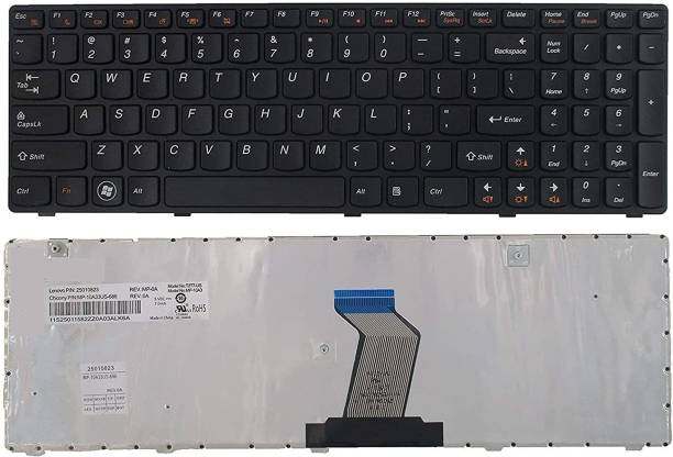 WISTAR 25010823 25-010793 MP-10A33US-686 V-117020AS1-US Keyboard Replacement with Frame for IBM LenovoIdeapad G570 Z560 Z560A Z560G G575 G780 G770 Z565 Series Laptop/Notebook Black US Layout Laptop Keyboard Replacement Key