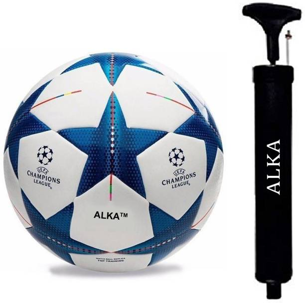 ALKA BLUE STAR HAND STITCHED FOOTBALL WITH PUMP Football Kit