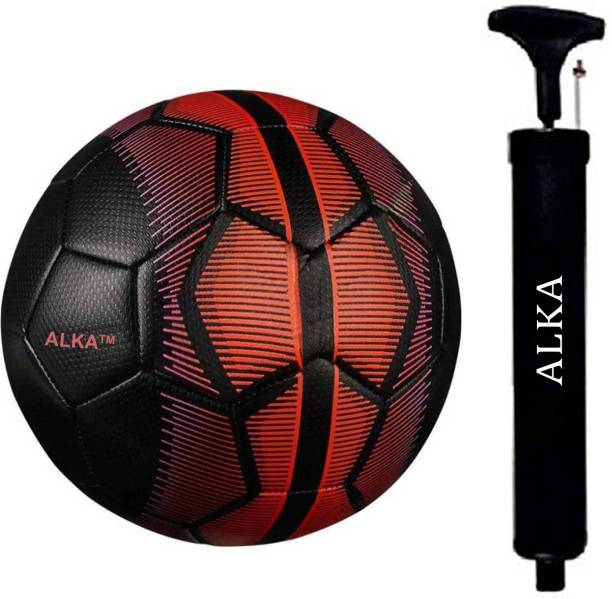 ALKA COMBO Black Mer----cury 32 Panel Football WITH AIR PUMP Football Kit