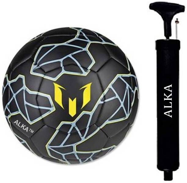 ALKA BLACK MESSI FOOTBALL COMBO WITH PUMP Football Kit