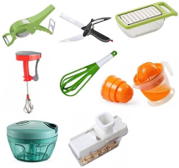 """JASHU N RINKU"" COMBO-8006 Helpful 8 pcs Kitchen Tools Set Combo-8006 (Best Quality) (Multicolor) Multicolor Kitchen Tool Set"