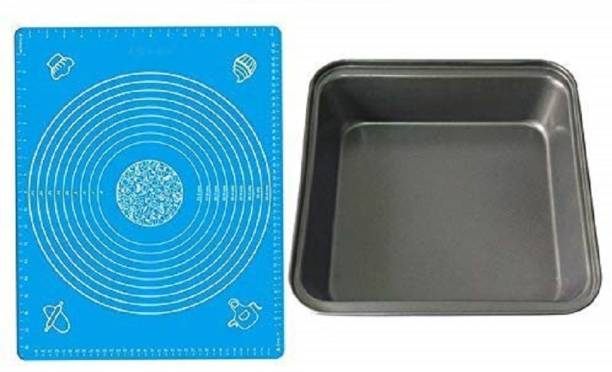 AL ATASH Bakeware Silicone Cake Mat with Measurements Guide for Baking Fondant Making Dough Sugar Craft Pastry Decorating and Square Shape Cake Making Mould Pan (Pack of 2) Bakeware Silicone Cake Mat with Measurements Guide for Baking Fondant Making Dough Sugar Craft Pastry Decorating and Square Shape Cake Making Mould Pan (Pack of 2) Multicolor Kitchen Tool Set