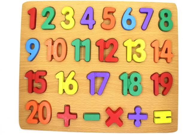 VIHANA CREATIONS Wooden 123 board or kids multicolor