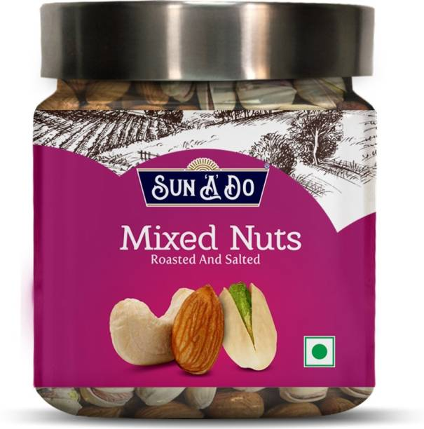 SUN'A'DO Mixed Nuts (Almonds, Cashew & Pistachios) Roasted & Salted- 200g Assorted Nuts