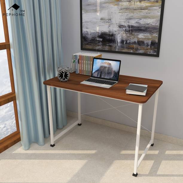PEPHOME PH-2B Multipurpose Study Table, Office Table, Laptop Table, Computer Table, Workstation Table, Computer Desk, Study Desk, Office Desk, Writing Table, Work from Home Table, 100x60x75CM, Engineered Wood Office Table