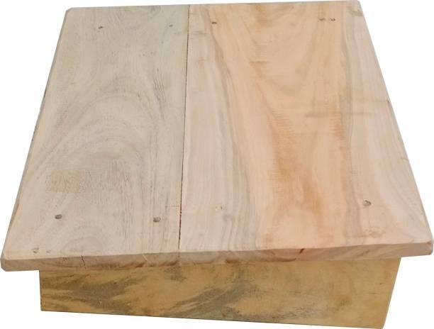 rsdenterprise Foot Rest Stool-natural Multipurpose Hard wood Living & Bedroom Stool
