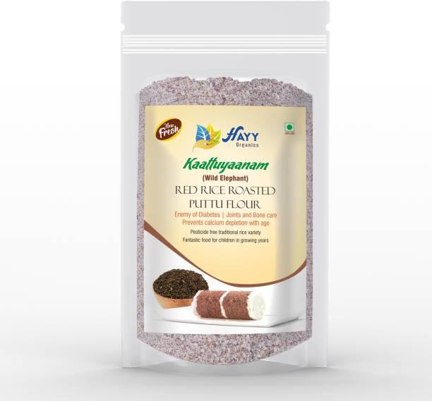 HAYYFOODS Kaattuyaanam Red Rice Roasted Rice flour (Puttu Podi) (Steam Cake ) , (Quick BreakFast Flour 500 g