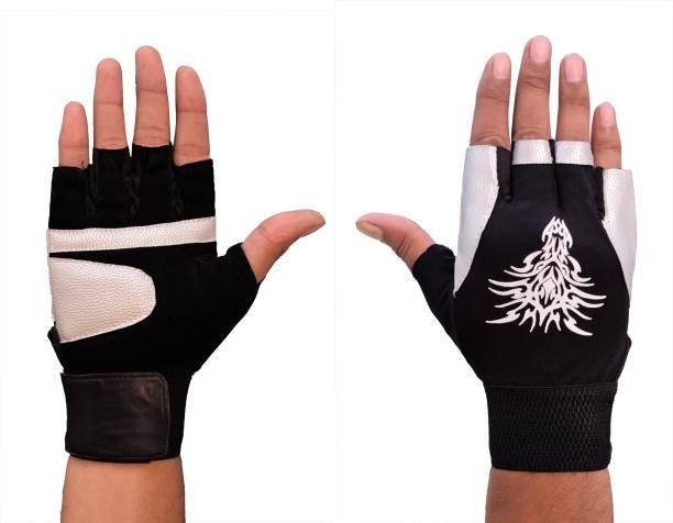 SKYFIT Super Comfortable Lycra gym gloves Gym & Fitness Gloves