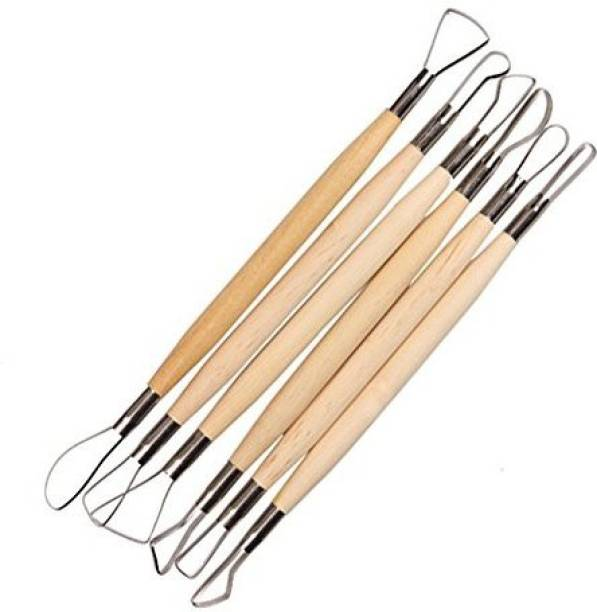 Rangwell Wire Clay Modelling Tool - Set of 6 Pieces Hunting wood