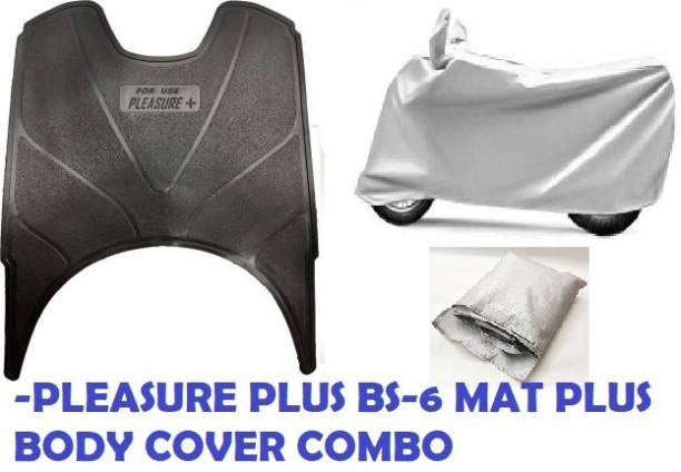 KIIRUS PLEASURE PLUS BS6 MAT AND BODY COVER COMBO FOOTMAT/FLOORMAT/SCOOTYMAT(WASHABLE MATS) Hero Pleasure Plus Two Wheeler Mat