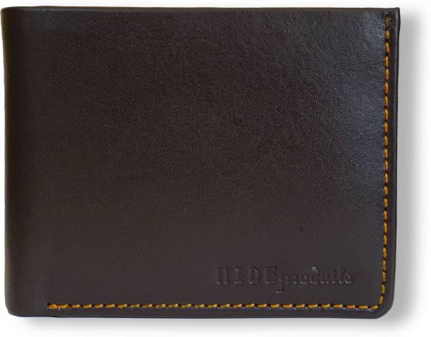 HIDE PRODUITS Men Casual Brown Genuine Leather Wallet