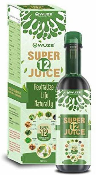 Wuze Super 12 Juice For Health | Tulsi Giloy Juice for Immunity -500ML (Pack of 3)