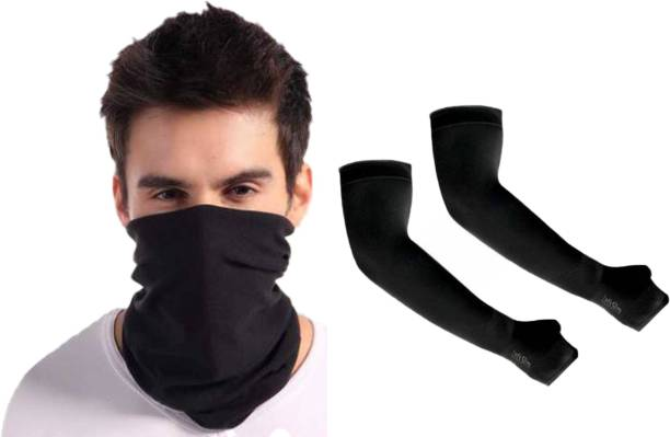 H&A Craft House Black Bike Face Mask for Men & Women