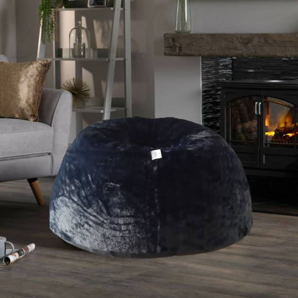 mollismoons XXL Chair Bean Bag Cover  (Without Beans)