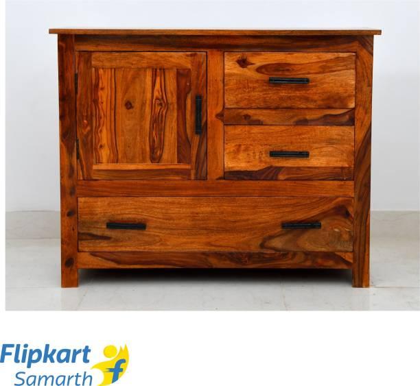 Divine Arts Sheesham Wood Solid Wood Free Standing Sideboard