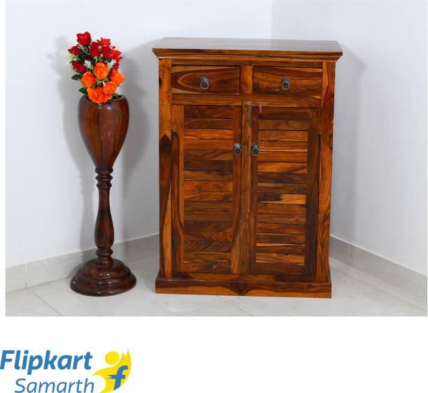 Divine Arts Sheesham Wood Solid Wood Free Standing Cabinet