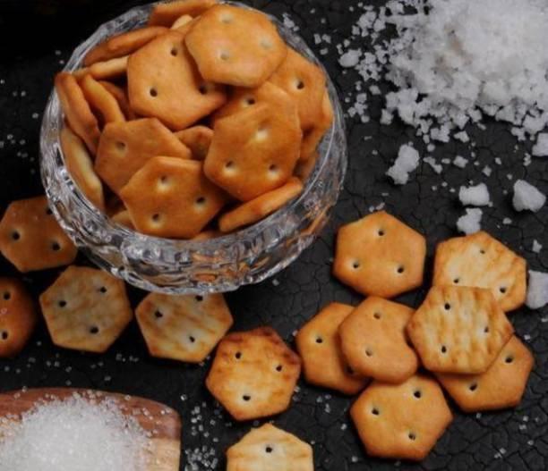JAINA Organics Bites Salted Crackers (Salted Mini Biscuits) Salted Biscuit Salted Biscuit