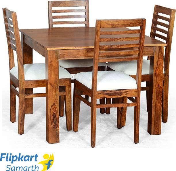 Divine Arts Sheesham Wood Solid Wood 4 Seater Dining Set
