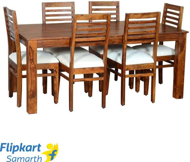 Divine Arts Sheesham Wood Solid Wood 6 Seater Dining Set