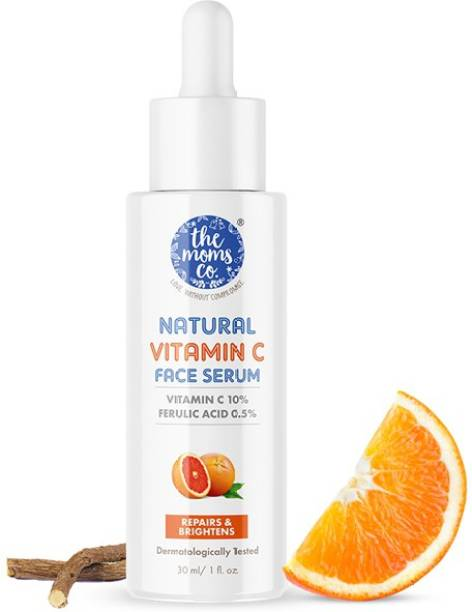 The Moms Co. Natural Vitamin C Face Serum with Vitamin C for a Naturally Brighter and Even Toned Skin l 10 percent Vitamin C