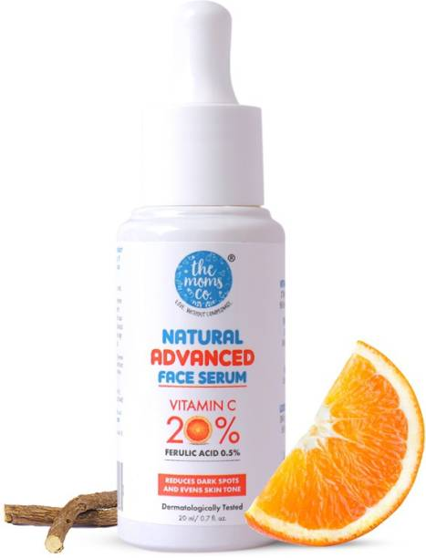 The Moms Co. Natural Advanced Face Serum with Vitamin C for a Naturally Brighter and Even Toned Skin l 20 percent vitamin c