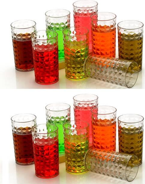 Roseleaf (Pack of 16) Premium Quality Classic Unbreakable WATER,JUICE,BEAR GLASS SET Glass Set Glass Set